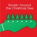 Weihnachtsgitarren-Hintergrund Stockfotos
