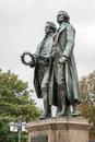 WEIMAR, GERMANY/EUROPE - SEPTEMBER 14 : The Goethe–Schiller Mo Royalty Free Stock Photo
