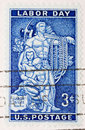 Weinlese 1956 US-Briefmarke-Werktag Stockfotos