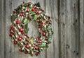 Weinlese-WeihnachtsKranz Stockbild