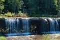 Weir dike dam Royalty Free Stock Photo