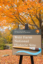 Weir Farm in Autumn Royalty Free Stock Photo