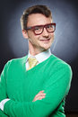 Weird funny young man Royalty Free Stock Photo