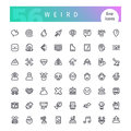 Weird Line Icons Set Royalty Free Stock Photo