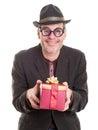 Weird Relative at Christmas Stock Photo