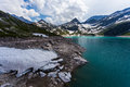 Weissee in Alps, lake in Austrian mountains Royalty Free Stock Photo