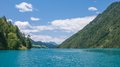 Weissensee carinthia austria the popular lake in Royalty Free Stock Photo
