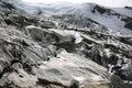 Weissmies with glacier trift in valais canton switzerland Stock Image