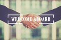 Welcome aboard Royalty Free Stock Photo