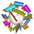 Welcome Around World Different Languages Cultures Signs