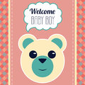 Welcome baby boy card vector illustration Stock Image