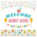 Welcome Baby Girl. Announcemen...
