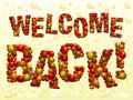 Welcome Back balloons Royalty Free Stock Photo
