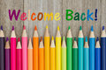 Welcome back message Royalty Free Stock Photo