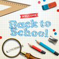 Welcome back to school vector eps illustration Stock Images
