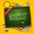 Welcome back to school vector eps illustration Royalty Free Stock Image