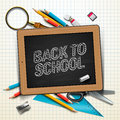 Welcome back to school vector eps illustration Stock Image
