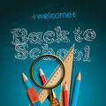 Welcome back to school vector eps illustration Royalty Free Stock Photos