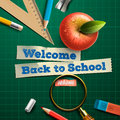 Welcome back to school vector eps illustration Stock Photos