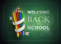 Welcome back to school vector illustration elements are layered separately in vector file easy editable Stock Image