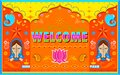 Welcome background in indian truck paint style illustration of Royalty Free Stock Images