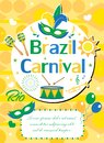 Welcome Brazil carnival poster, invitation, flyer. Templates for your design. Brazilian Festival, Masquerade background