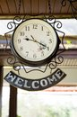 Welcome clock Stock Photos