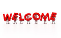 Welcome d clip art of Royalty Free Stock Photo