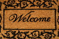 Welcome mat background conceptual image of a door Royalty Free Stock Photography