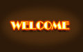 Welcome neon sign Royalty Free Stock Images