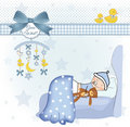 Welcome new baby boy Royalty Free Stock Photo