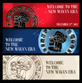 Welcome new Mayan era banner Stock Photos