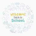 Welcome school lettering