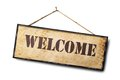 Welcome sign Royalty Free Stock Photo