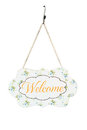 Welcome sign board. Royalty Free Stock Photo