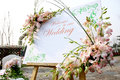 Welcome sign wedding reception Royalty Free Stock Photos