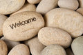 Welcome stone Stock Photography