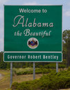 Welcome To Alabama w\ Governor Royalty Free Stock Photo
