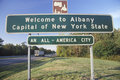 Welcome to Albany sign Stock Image