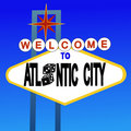 Welcome to Atlantic City sign Stock Images