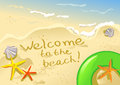 Welcome to the beach illustration Royalty Free Stock Photography