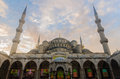 Welcome to Blue Mosque at dawn, Istanbul, Turkey Royalty Free Stock Photo