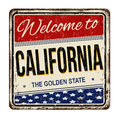 Welcome to California vintage rusty metal sign Royalty Free Stock Photo
