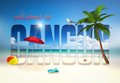 Welcome to cancun illustration summer Royalty Free Stock Photos