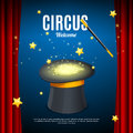 Welcome to Circus Poster Card Template. Vector Royalty Free Stock Photo