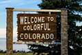 Welcome to Colorado Highway Sign Royalty Free Stock Photo