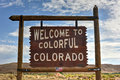 Welcome to Colorful Colorado Sign Royalty Free Stock Photo