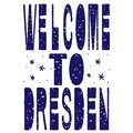 Welcome to Dresden. Is the capital city and, after Leipzig, the second-largest city of the Free State of Saxony in Germany. Royalty Free Stock Photo