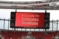 Welcome to Emirates Stadium Stock Image