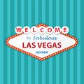 Welcome to fabulous las vegas nevada sign on curtains background vector eps Stock Images